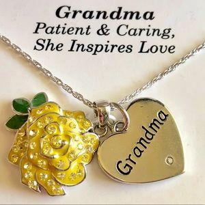 """""""Grandma"""" or """"Nana"""" Sterling Silver 18"""" Ne…"""